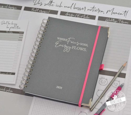Kalender 2021 um fokussiert an Zielen zu arbeiten