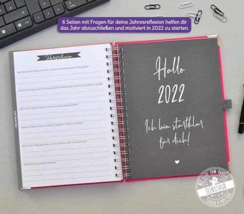 Wochenkalender Taschenkalender mit Jahresreflexion
