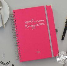 Terminkalender Fokusplaner Leinenbuch in Pink