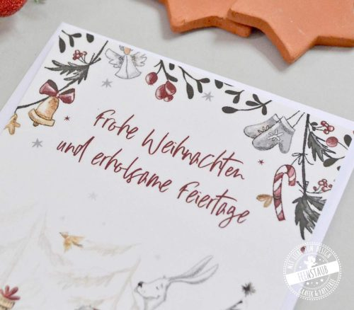 Weihnachtskarten im 4er Set für WEihnachtswünsche
