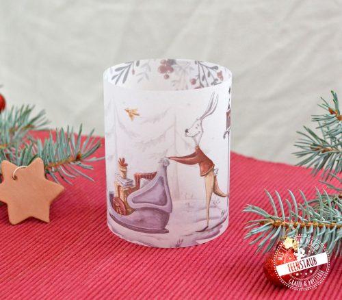 kerzenhülle weihnachten lichthülle als Winterdeko