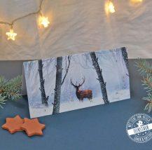 Adventkalender Klappkarte mit Wintermotiven, mit mehr Achtsamkeit durch den Advent