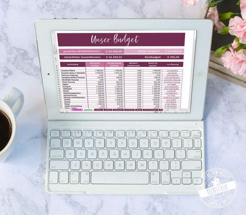 Budgetplaner für die Hochzeit als Download
