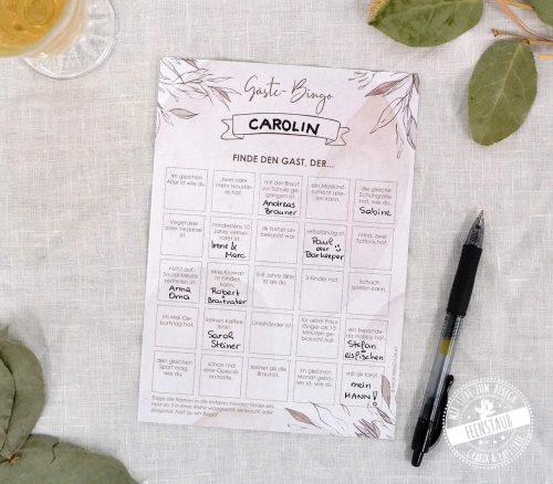 Gäste-Bingo für deine Hochzeit