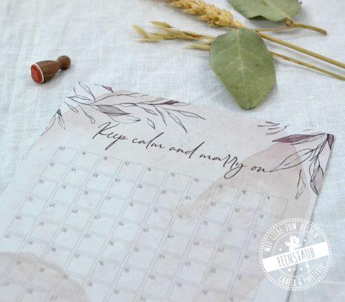 Hochzeitscountdown noch 100 Tage bis zur Hochzeit