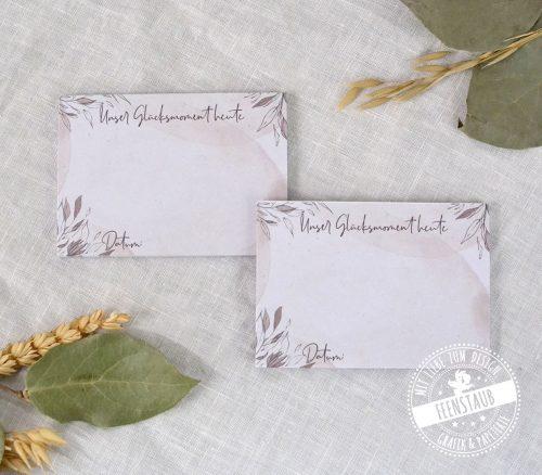 Blöcke für Glücksglas für Hochzeitsvorbereitungszeit