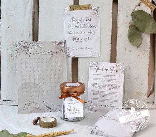 Verlobungsgeschenk - Hochzeitscountdown, Washi Tape Wedding, Beziehungsglücksglas für die Hochzeitsvorbereitung