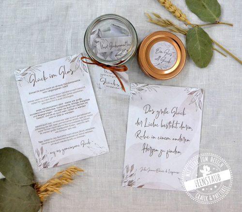 Erinnerungen sammeln während der Hochzeitsplanung im Glücksglas