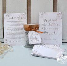 Beziehungsglücksglas für die Verlobung- Hochzeitsvorbereitungszeit