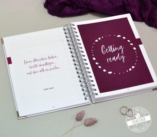 Übersichtlicher Hochzeitsplaner mit vilen Checklisten