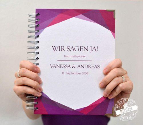Hochzeitsplaner Buch mit NAmen und Datum personalisierbar
