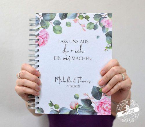 Planungshilfe für deine Hochzeit, personalisierbares Weddingplaner Buch