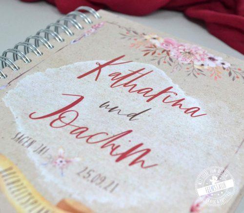 Boho Hochzeitsplaner Buch personalisierbar mit Namen und Datum