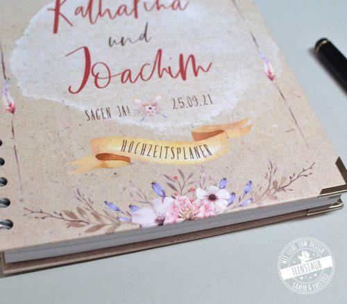Boho Weddingplaner Buch für deine perfekte Hochzeitsplanung