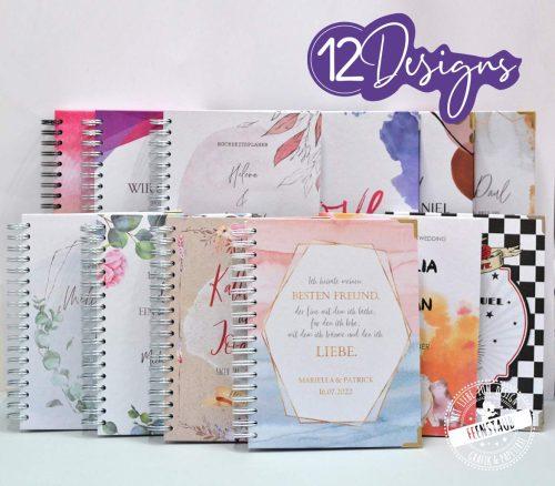 12 Hochzeitsplaner Designs, alle personalisierbar