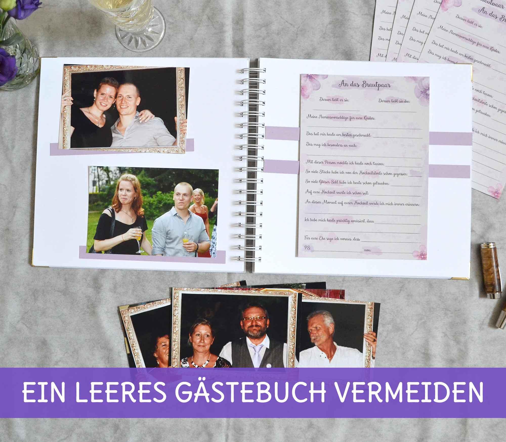 Gästebücher und Alternativen für die Hochzeit