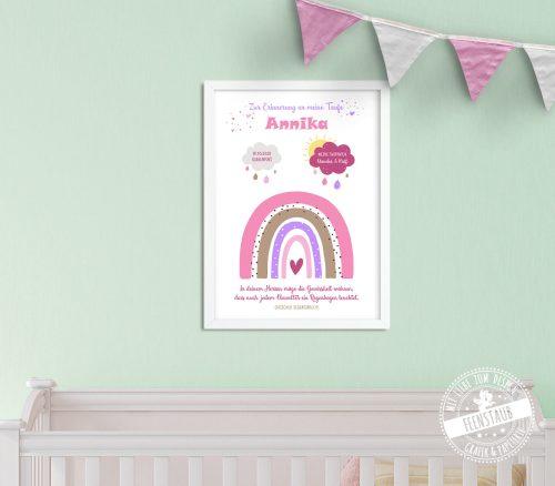 Bild mit Regenbogen für Patenkind