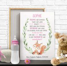 Bild fürs Kinderzimmer, Spruch - du bist wunderbar - mit süßen Fuchs