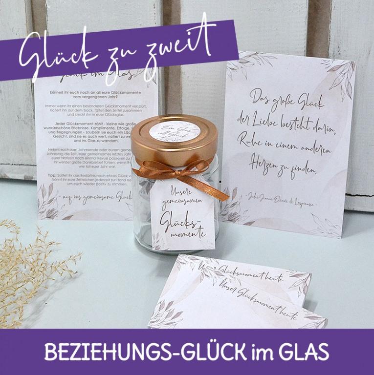 Geschenke für dern Valentinstag für Mann und Frau Glück im Glas
