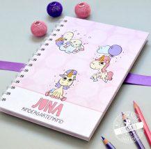Notizbuch mit Einhörnern für Mädchen als Geschenk zum Schulstart