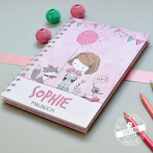 Notizbuch mit Mädchen Geschenk in der Schultüte für die Eisnchulung