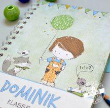 Geschenk für Schultüte zur Einschulung - Notizbuch mit Schulkind