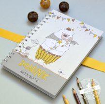 Notizbuch mit Bär und Schultüte Geschenk zum ersten Schultag