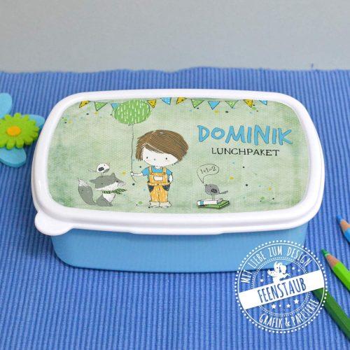 Jausenbox für Jungen mit Namen personalisiert