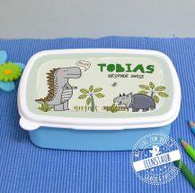 Jausenbox mit Dinosaurier für Schulkind, Personalisierbar mit Namen