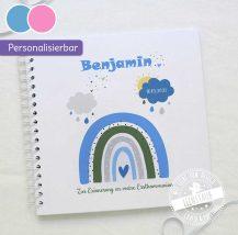 Regenbogen Fotoalbum personalisierbar