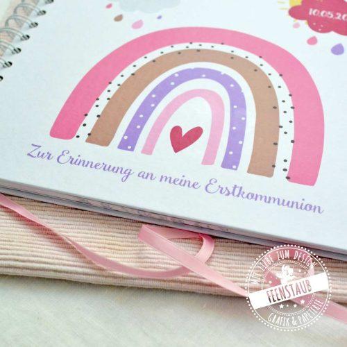 Gästebuch mit Regenbogen für Erstkommunion