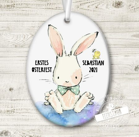 Osteranhänger mit Namen bedruckt zum ersten Osterfest oder als kleines Geschenk