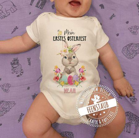 Oster Bügelbild für Babybody mit Namen bedruckbar