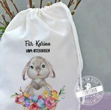 Ostersackerl für Osterfest, persönliches Geschenk zu Ostern mit Name