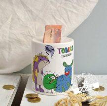 Spardose für Taschengeld, personalisierbar