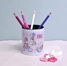 Stiftebecher für Kinder, Einhorn in rosa oder lila für Mädchen