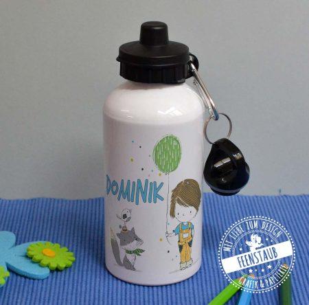 Fahrradflasche für Kinder, mit Namen bedruckt