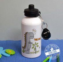 Dino Trinkflasche mit Sportverschluss und Karabinerhaken