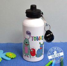 Flasche mit Sportverschluss für Schule und Kindergarten, personalisierbar
