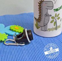 Dinosaurier auf Trinkflasche für Schulkinder