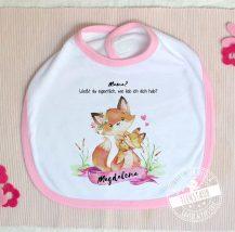 Lätzchen mit Namen des Babys personalisiert - Geschenk zum Muttertag