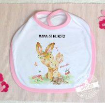 Baby Lätzchen mit Namen personalisierbar Hasen