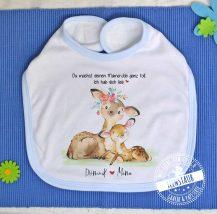 Baby Lätzchen in blau und rosa mit Namen als Geschenk zum ersten Muttertag