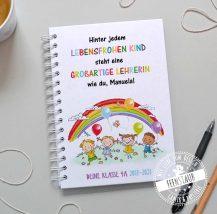 Notizbuch für Lehrer personalisiert