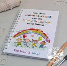 Abschiedsgeschenk für Lehrer Notizbuch mit Namen