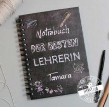 Abschiedsgeschenk Notizbuch individuell für Lehrer