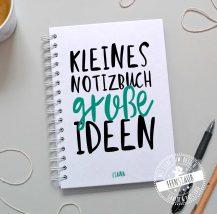 notizbuch personalisiert mit name und spruch
