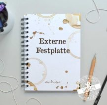 personalisierbares Notizbuch mit Wunschtext und Wunschname
