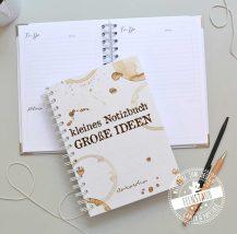 Notizbuch personalisierbar mit wählbaren Innenleben kariert, blanko, gepunktet, To-Do Liste