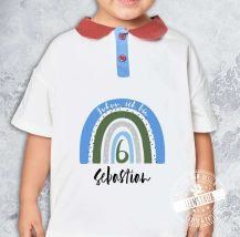 Bügelbild für Kinder mit Regenbogen zum Geburtstag personalisiert mit Namen und Alter